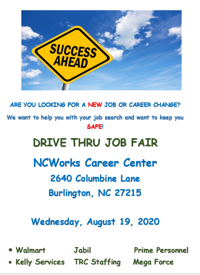 Drive Thru Job Fair - Alamance County NCWorks